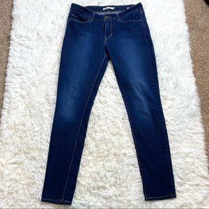 Levis 711 Skinny Jeans Dark Wash Size 30
